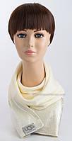 Женский вязаный шарф Джази с логотипом Ugg белый+серебро