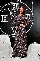 """Молодежное длинное нарядное платье """"Лорра"""", фото 1"""
