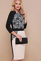 Узор черный платье Ксена-Б д/р, фото 1