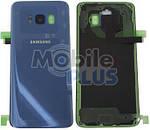 Samsung SM-G950F Galaxy S8 Задняя стеклянная панель (крышка аккумулятора), Blue, оригинал, GH82-13962D