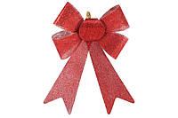 Новогодний декор, украшение Бант, 25см, цвет - красный, набор 36 шт