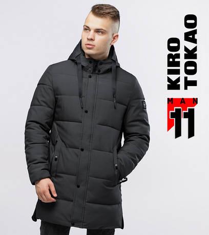 Длинная куртка на зиму Kiro Tokao - 6001 серый