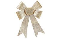 Новогодний декор, украшение Бант, 25см, цвет - золото, набор 36 шт
