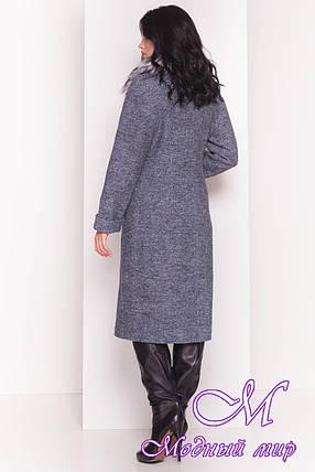 Осеннее женское пальто с чернобуркой (р. S, M, L) арт. Богема 5372 - 36628, фото 2