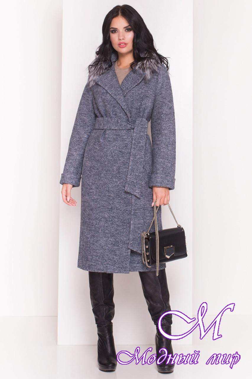 Осеннее женское пальто с чернобуркой (р. S, M, L) арт. Богема 5372 - 36628