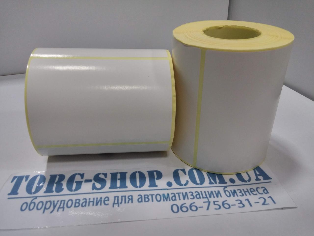 Етикетка напівглянсова Vellum 100х70 (500 шт. в рулоні) втулка 41мм