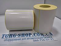 Этикетка полуглянцевая Vellum 100х70 (500 шт. в рулоне) втулка 41мм, фото 1