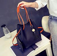 Женская молодежная сумка с кошельком Haley Черный, фото 1