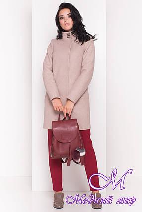 Стильное демисезонное пальто женское (р. S, M, L) арт. Люцея 5368 - 36545, фото 2