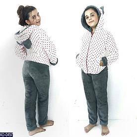 Домашний костюм - пижамка с ушками, подросток, Чудный горох, 12 лет, 14 лет расцветки