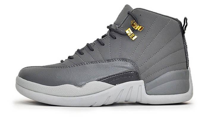 Мужские Баскетбольные кроссовки Nike Air Jordan 12 Grey (Реплика ААА ... ea67236e294