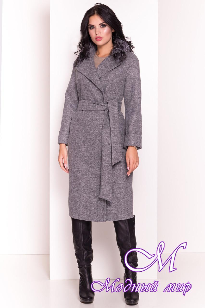 Длинное женское демисезонное пальто (р. S, M, L) арт. Богема 5424 - 36598
