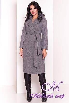 Длинное женское демисезонное пальто (р. S, M, L) арт. Богема 5424 - 36598, фото 2