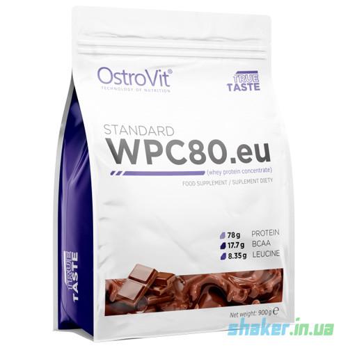 Сывороточный протеин концентрат OstroVit WPC80.eu (900 г) островит вей vanilla
