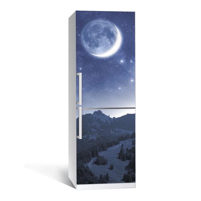 Виниловая наклейка на холодильник Космос ламинированная двойная (пленка самоклеющаяся фотопечать)