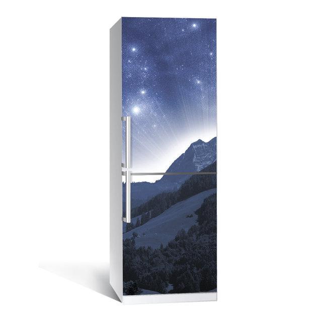 Виниловая наклейка на холодильник Космос 01 ламинированная двойная самоклеющаяся пленка фотопечать