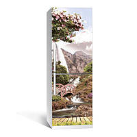 Виниловая наклейка на холодильник Япония ламинированная двойная(пленка самоклеющаяся фотопечать)