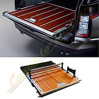 Деревянный пол в багажник на Range Rover Vogue L405, фото 1
