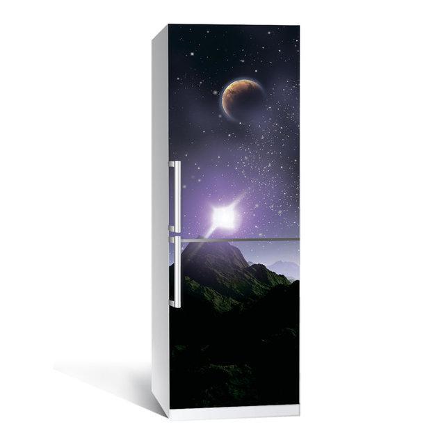 Виниловая наклейка на холодильник Космос 03 ламинированная двойная(пленка самоклеющаяся фотопечать)
