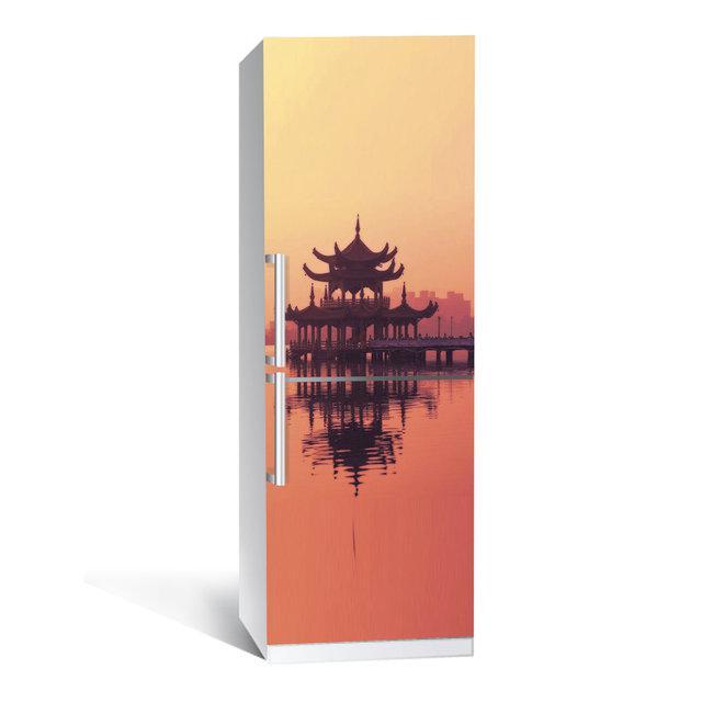 Виниловая наклейка на холодильник Вдохновение ламинированная двойная (пленка фотопечать)