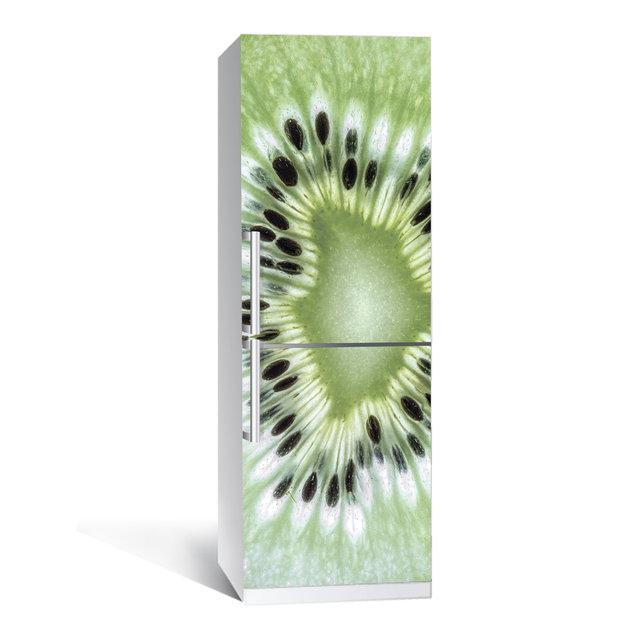 Виниловая наклейка на холодильник Киви ламинированная двойная (самоклеющаяся пленка фотопечать)