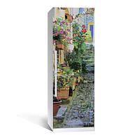Виниловая наклейка на холодильник Прованс ламинированная двойная (пленка самоклеющаяся)