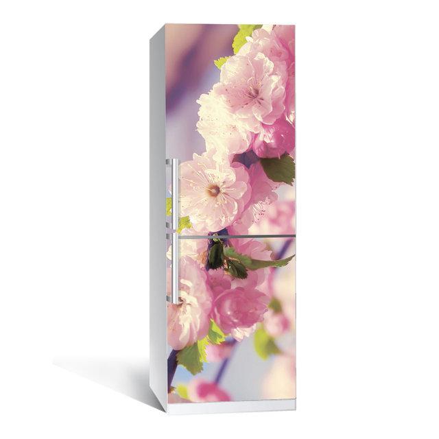 Виниловая наклейка на холодильник Романтик ламинированная двойная (пленка самоклеющаяся фотопечать)