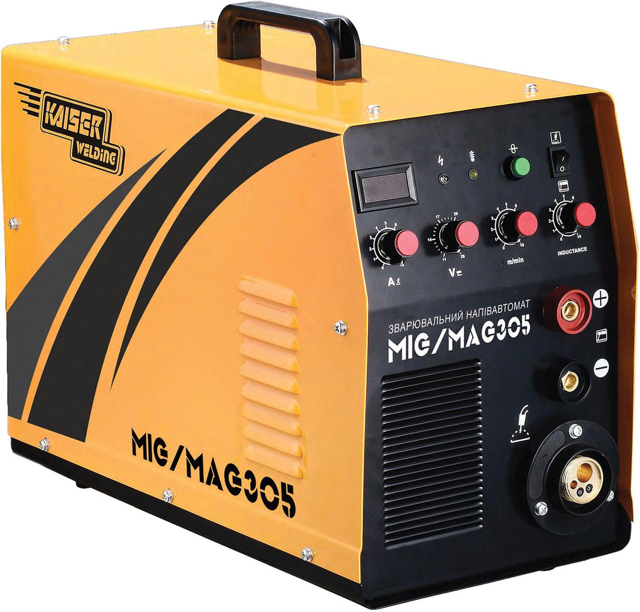 Зварювальний напівавтомат Kaiser MIG-305 (7 кВт, 305А, дріт 0.6-1.0 мм)