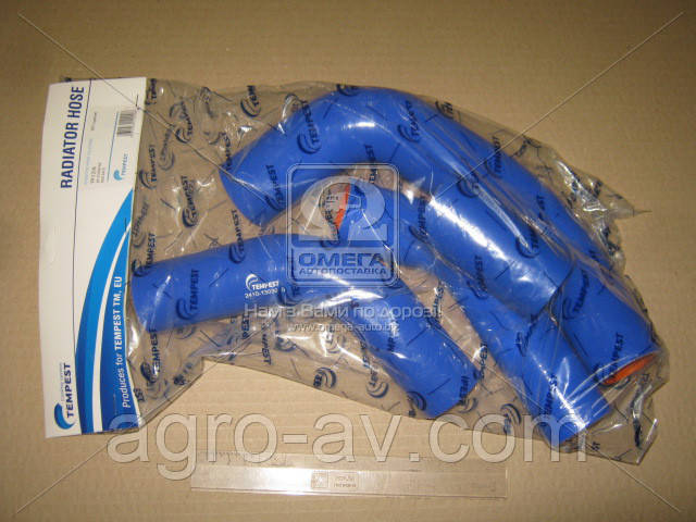 Патрубок радиатора (TP.1318) ГАЗ 2410 (компл. 4 шт. силикон) (TEMPEST)