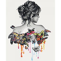 "Картина мо номерам. Люди ""Нежность бабочки"""