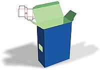 Чертеж развертки коробки 76 х 35 х 110