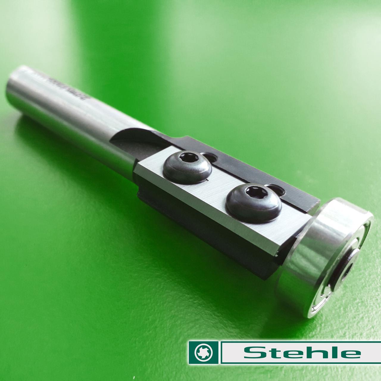 19х30х12 z=2 Фреза Stehle для ручного фрезера для обработки кромки со сменными ножами и нижним подшипником