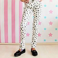 Фирменные белые джинсы для девочки Звезды Philipp Plein размер 1-5, 10, 12 лет