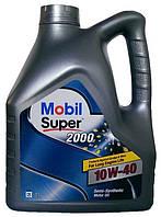 Моторное масло полусинтетика Mobil Super 2000 10w40 4л