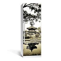 Виниловая наклейка на холодильник Умиротворение ламинированная двойная (пленка самоклеющаяся фотопечать)