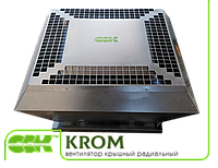 Крышный вентилятор радиальный малой высоты KROM-6,3