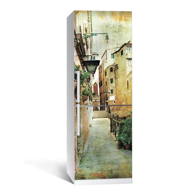 Виниловая наклейка на холодильник Прованс 01 ламинированная двойная (пленка самоклеющаяся фотопечать)