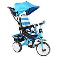 Детский велосипед трехколесный KidzMotion Tobi Junior Blue синего цвета / велосипед для мальчика
