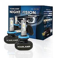 Светодиодные автолампы ближнего света+птф LED H7 Night Vision 6000K 4000Lm (CARLAMP)