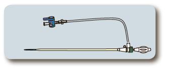 Інтродьюсер з гемостатичну клапаном 12см 8Fr, фото 2