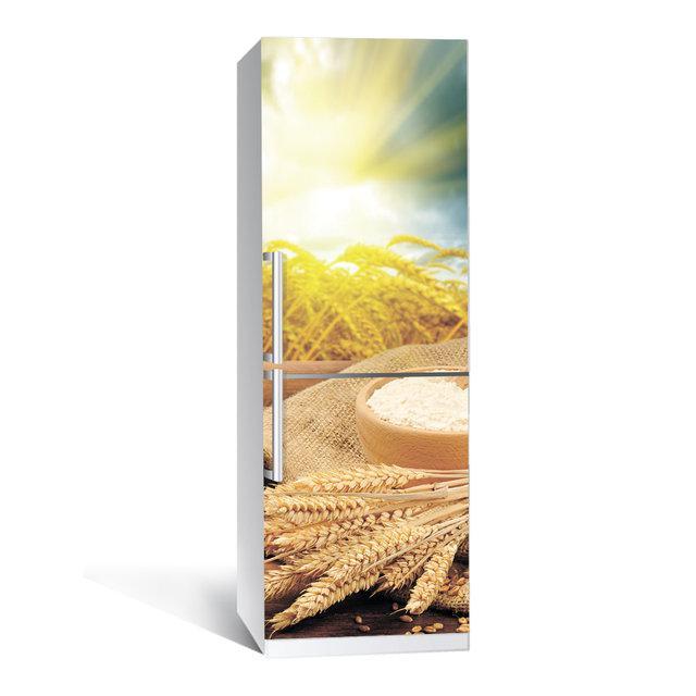 Виниловая наклейка на холодильник Этно ламинированная двойная (самоклеющаяся пленка фотопечать)
