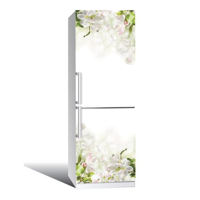 Виниловая наклейка на холодильник Нежность ламинированная двойная (пленка самоклеющаяся фотопечать)