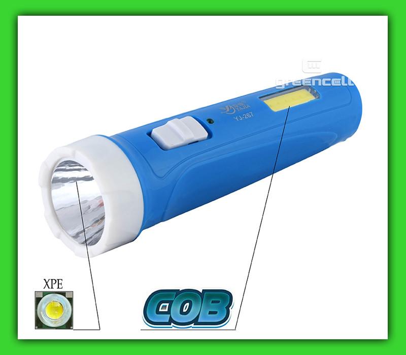 Фонарь ручной Yajia YJ 267 1W 1.2W COB аккумуляторный