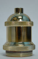 Гильза на патрон античное золото для светильников и подвесов в индустриальном стиле
