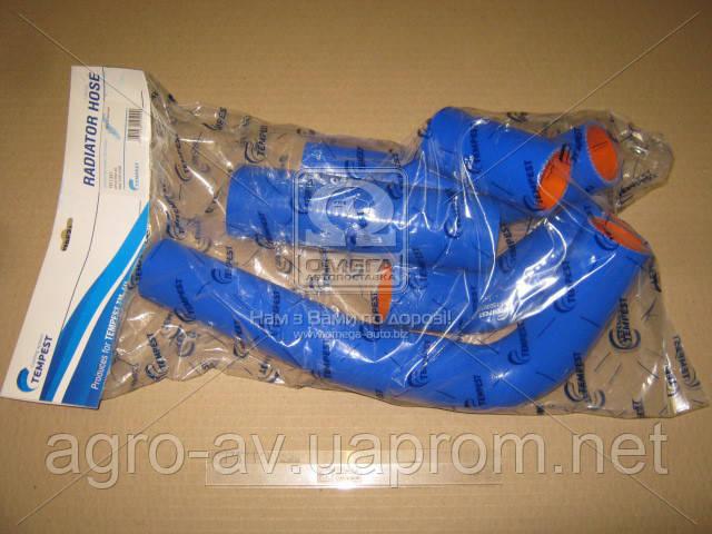 Патрубок радиатора (TP.1321) ГАЗ 3302 (дв.402) (компл. 5 шт. силикон) (TEMPEST)