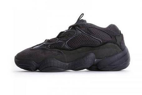 Женские кроссовки Adidas Yeezy 500 Blush All Black , фото 2