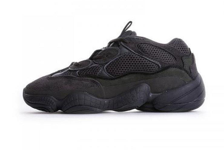 Женские кроссовки Adidas Yeezy 500 Blush All Black