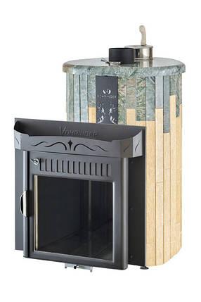 Дровяная печь для бани Ферингер Ламель Макси Жадеит + Сильвия Оро (закрытая каменка), фото 2