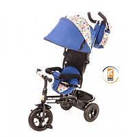 Детский велосипед трехколесный KidzMotion Tobi Venture Blu синего цвета / велосипед трехколесный для мальчика