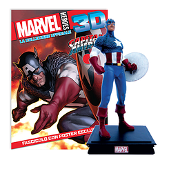 Мініатюрна фігура Герої Marvel 3D №15 Капітан Америка (Centauria) масштаб 1:16